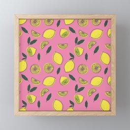 Pink Lemonade Pattern Framed Mini Art Print