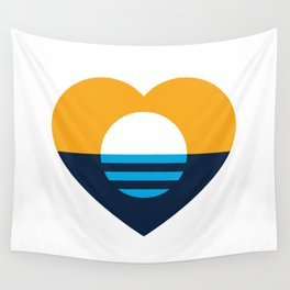 Heart of MKE - People's Flag of Milwaukee Wall Tapestry