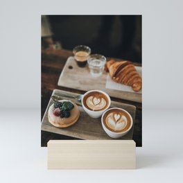 Latte + Pastries Mini Art Print