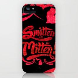 Smitten with the Mitten (Blue Version) iPhone Case