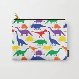 Dinosaurs - White Carry-All Pouch