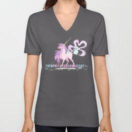 Even Pretty Unicorns... Unisex V-Neck