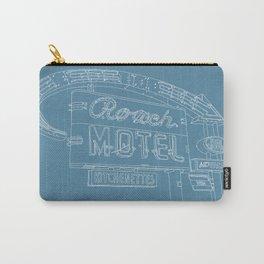 San Antonio Motel Series - Vintage Niagara Blue Carry-All Pouch