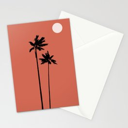 Palms in sunset Stationery Cards