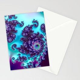 Jewel Tone Fractal Stationery Cards