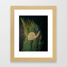 The Daughter of Pentacles Framed Art Print