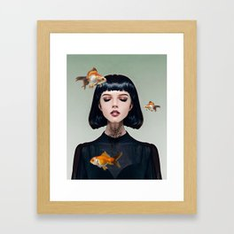 Goldfish Dreaming Framed Art Print