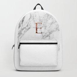Monogram rose gold marble E Backpack
