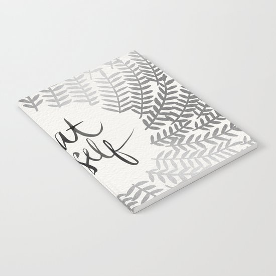 Treat Yo Self – Silver Notebook