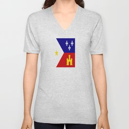 Acadiana Flag Unisex V-Neck