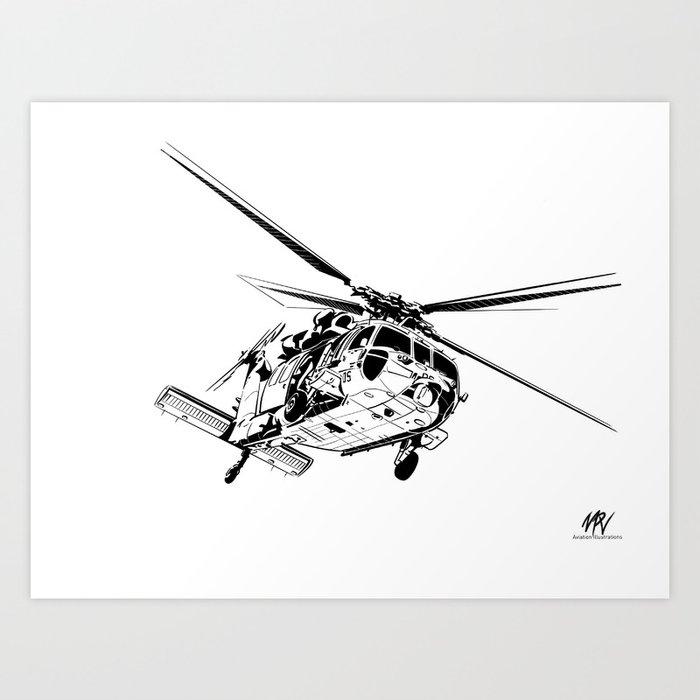 MH-60S Sea Hawk Art Print