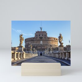 Ponte Sant'Angelo at dawn - Rome, Italy Mini Art Print