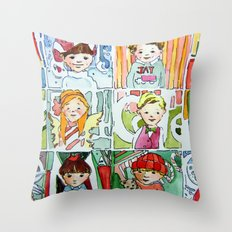 Christmas Cousins Throw Pillow