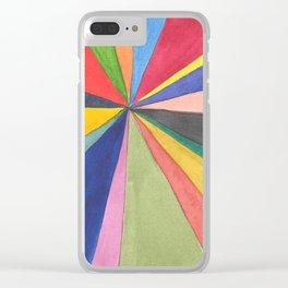 Watercolor Pinwheel Robayre Clear iPhone Case