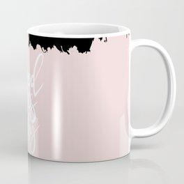 Modern abstract black blush pink brushstrokes typography Coffee Mug
