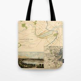 Map of Boston 1880 Tote Bag