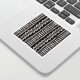African Vintage Mali Mud Cloth Print Sticker