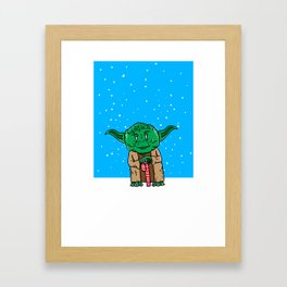 Yoda Christmas Framed Art Print