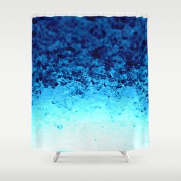 Blue Crystal Ombre Shower Curtain