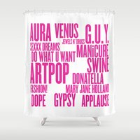artpop Shower Curtains featuring ARTPOP (White) by Greg21
