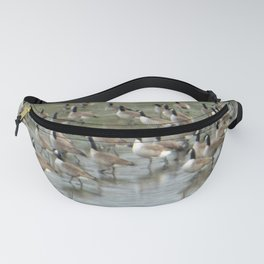 Canada Geese Partial Frozen Lake Fanny Pack