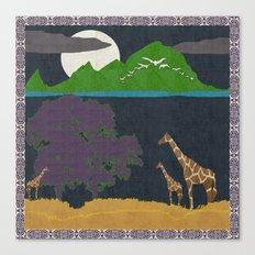 Dusk On The Plain Canvas Print