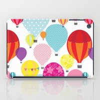 hot air balloons iPad Cases featuring Hot air balloons by Tat Georgieva
