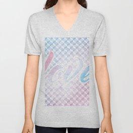 Geometric 1 Love Unisex V-Neck