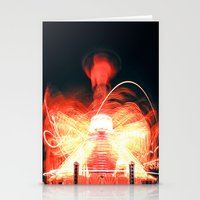 ufo Stationery Cards featuring UFO by Teodora Roşca