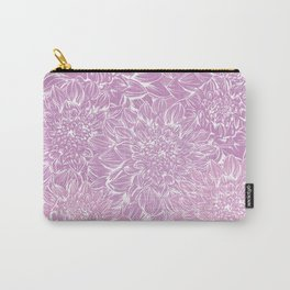Dahlia pattern pink vintage Carry-All Pouch