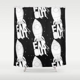 Far Out Shower Curtain