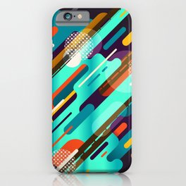Abstract colorful background with geometric lines  iPhone Case
