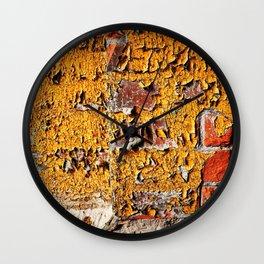 Orange Peel Wall Clock