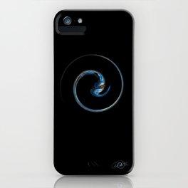 Blue Spiral iPhone Case