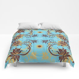 Abstract floral ornament Comforters