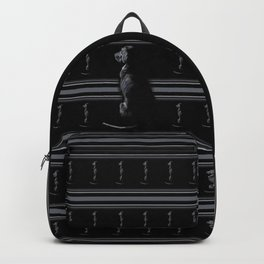 Black on Black Lab Backpack