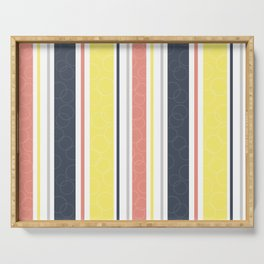 Circles and stripes pattern Serving Tray