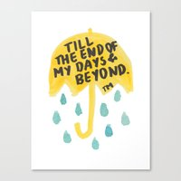 """himym Canvas Prints featuring HIMYM - """"End of My Days"""" by Ang Shuang"""