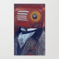 radiohead Canvas Prints featuring Radiohead by Daniela Albert