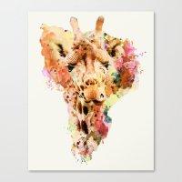 giraffe Canvas Prints featuring giraffe by RIZA PEKER