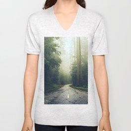 Redwood Forest Adventure - Nature Photography Unisex V-Neck