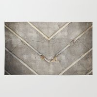 concrete Area & Throw Rugs featuring Concrete Chevron by INDUR
