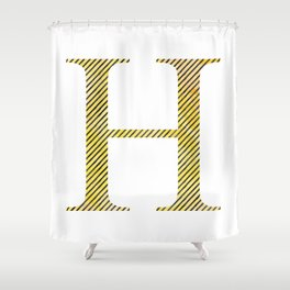 House Pride - H - Striped Watercolour Shower Curtain