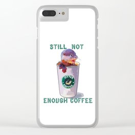Otter Coffee #2 Still Not Enough Coffee Clear iPhone Case