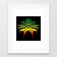 punk rock Framed Art Prints featuring punk rock  by jhun21