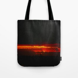 There's a Feeling I Get When I Look to the West #3 (Chicago Sunrise/Sunset Collection) Tote Bag