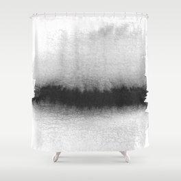 Black and White Horizon Shower Curtain