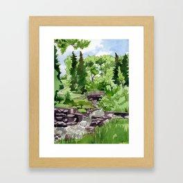 Little Confederation Park Bridge Framed Art Print