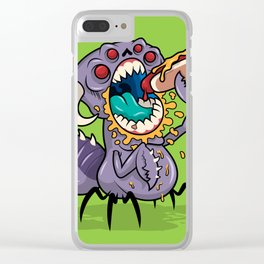 Om Nom Alien Bug Clear iPhone Case