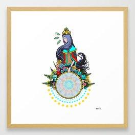 LADY OF THE HOOP Framed Art Print